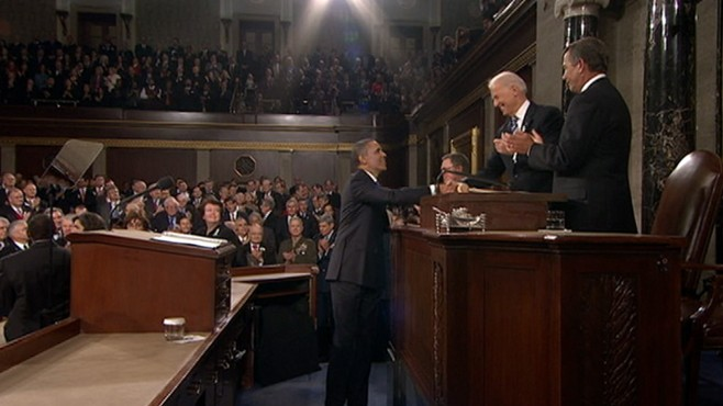 VIDEO: Democrats and Republicans both applaud some of President Obamas goals.