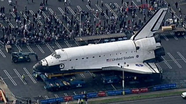 VIDEO: Brandi Hitt follows the famous shuttle as it reaches end of retirement tour.
