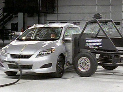 VIDEO: A side impact crash test.