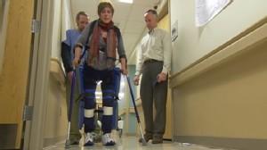 VIDEO: Ground-breaking robotic legs help paraplegics walk again.