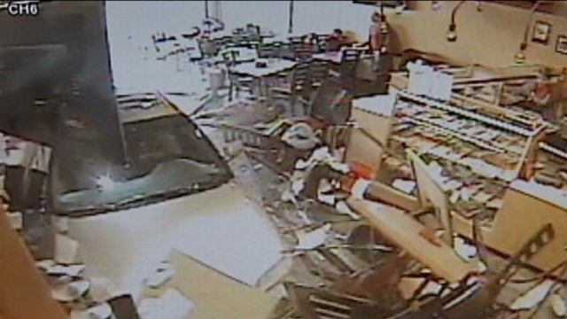 VIDEO: Unbelievable video reveals how vehicle plowed through busy eatery.