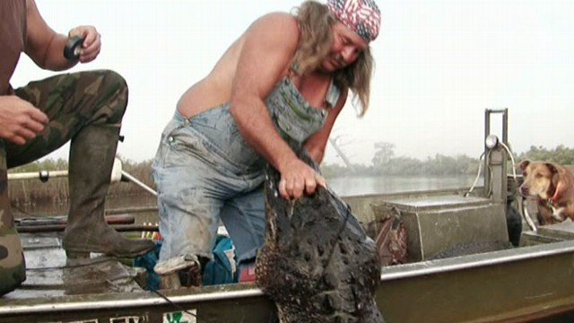 VIDEO: Reality-TV show follows a family of hunters making a living trapping alligators.