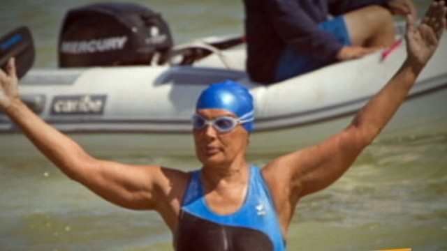 VIDEO: Diana Nyad to Swim for Superstorm Sandy Victims