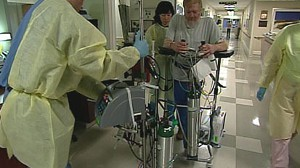 VIDEO: Ward Forsyth relies on his portable lung to breathe.