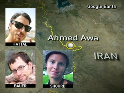 VIDEO: Josh Fattall, Shane Bauer and Sarah Shourd are stil being held in Iran.