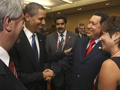 VIDEO: Obama is criticized for friendly behavior toward Venezuelan President Chavez.