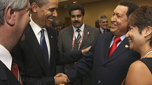 VIDEO: Obama is criticized for friendly behavior toward Venezuelan President Chavez.