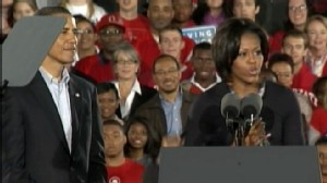 VIDEO: President and Michelle Obama campaign for voters before midterm elections.