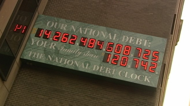 VIDEO: Federal budget battle settles but national debt clock continues to tick.