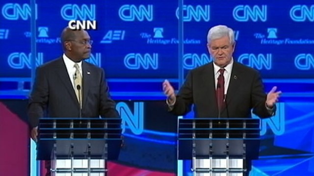 VIDEO: The Republican presidential candidates battle it out in the latest debate.