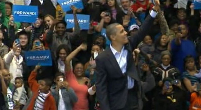VIDEO: The president is campaigning with Bruce Springsteen on the eve of Election Day.