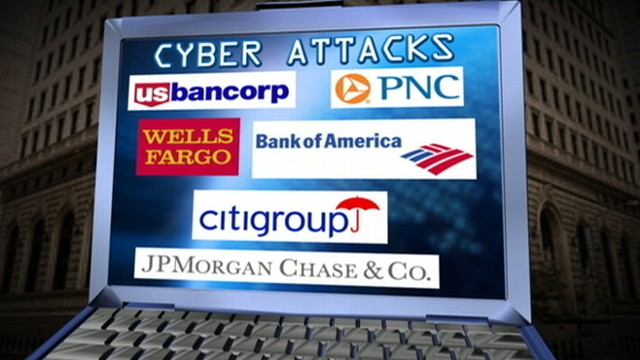 VIDEO: Pierre Thomas reports on cyber attacks on banks and what it means for their customers.