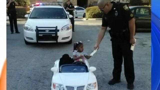 VIDEO: Police Ticket Mini-Motorists