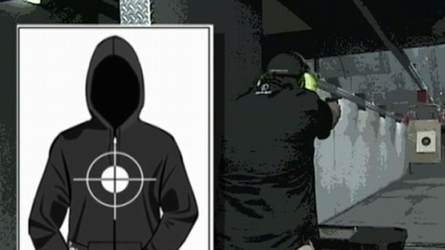 VIDEO: Witnesses report that a man used the shooting victims image at a firearm training exercise.