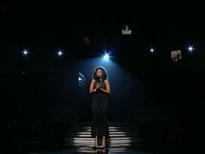 "VIDEO: The music industry honored the singer in a night of ""healing."""