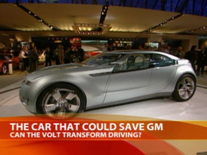 A picture of GMs electric car, the Volt.