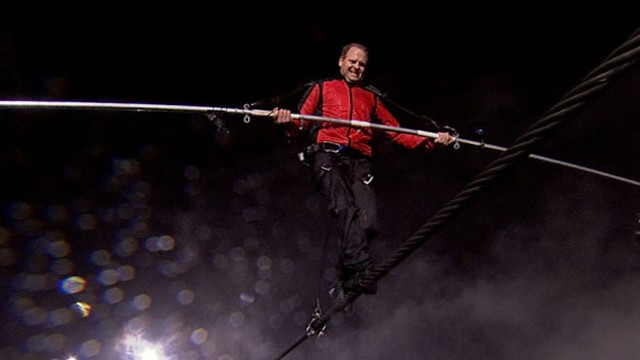 VIDEO: Nik Wallenda had millions of eyes on him as he crossed Niagara Falls on live TV.