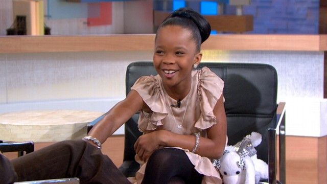 VIDEO: Quvenzhane Wallis yucks it up withi George Stephanopoulos while discussing her historic Oscar nod.