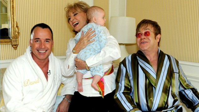 VIDEO: Elton John and David Furnish chose Lady Gaga as their sons godmother.