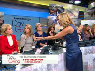 Watch: Barbara Walters, Katie Couric Discuss Superstorm Sandy Relief on 'GMA'