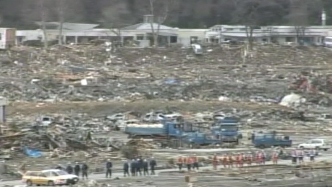 VIDEO: Recovery underway for 17,000 missing villagers in northeast Japan.