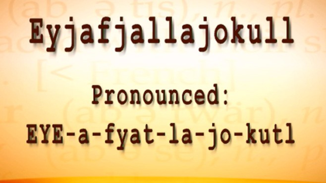 how to pronounce eyjafjallajokull video   abc news