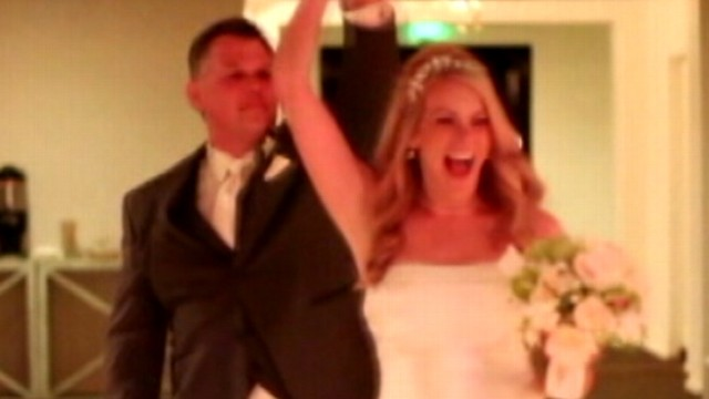 VIDEO: Cameras were rolling when newlyweds got to see their lost wedding videos for the first time.