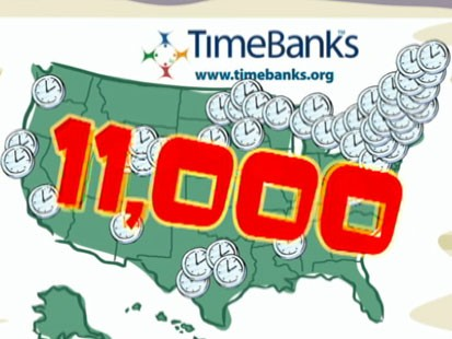 VIDEO: Time bank participants pay in good deeds instead of cash.