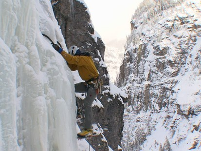 Weekend Window: Ice Climbing