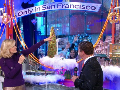 VIDEO: Diane unveils the second window which features the Golden Gate Bridge.