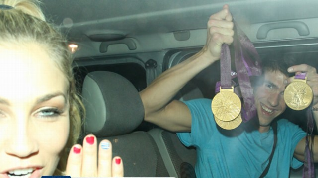 VIDEO: Medal-winners hit the streets in the city famous for its plentiful nightlife.