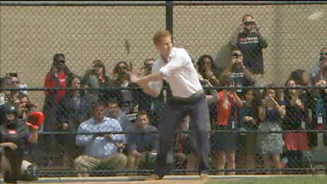 Video: Prince Harry Hits Home Run with NY Children