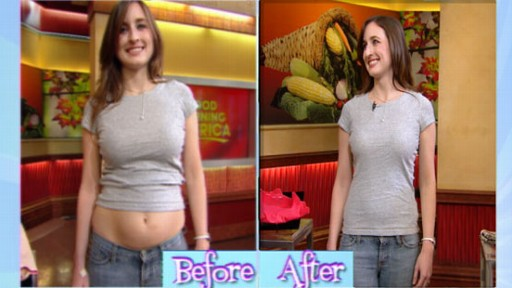 VIDEO: Becky Worley examines fabric technology that makes women look slimmer.