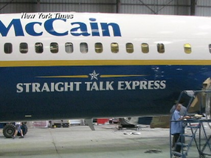 McCains New Airplane