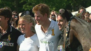 VIDEO: Prince Harry visits Harlem and scores winning goal in charity polo match.