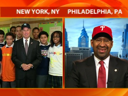 VIDEO: Mayors Mike Bloomberg and Michael Nutter talk about the World Series.