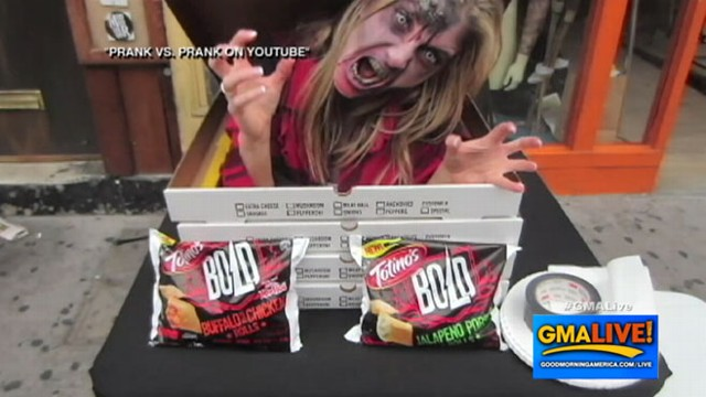 VIDEO: Pranksters Serve Up Free Undead Pizza