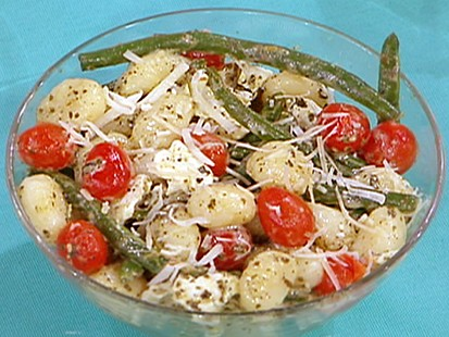 Matt Goulding's pesto gnocchi with green beans and tomatoes.