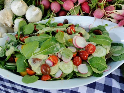 Rocco's Mixed Green Salad with Fennel-Tarragon Dressing