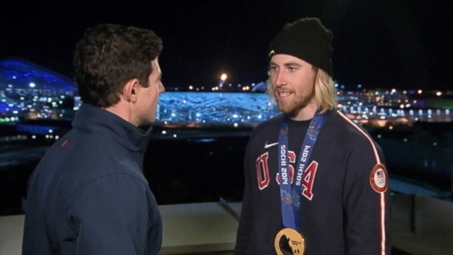 "VIDEO: Olympian Sage Kotsenburg tells ABCs Matt Gutman that he fears heights when its ""out of my hands."""
