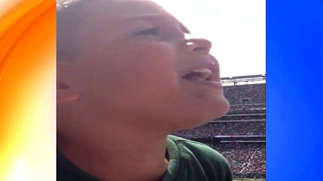 Young Jets Fan Shows Tampa Bay Bucs Fan Whos Boss