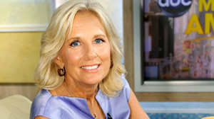 PHOTO  Dr. Jill Biden speaks to Robin Roberts about her work on behalf of military families, in an interview airing on Good Morning America.