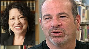 Sonia Sotomayor's brother, Juan Sotomayor, right, sat down with Good Morning America in an exclusive interview airing Wednesday June 10./Judge Sonia Sotomayor is shown in this 2009 file photo.