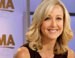 PHOTO: Lara Spencer on the set of GMA.
