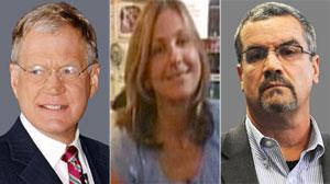 David Letterman, Stephanie Birkitt and Joe Halderman