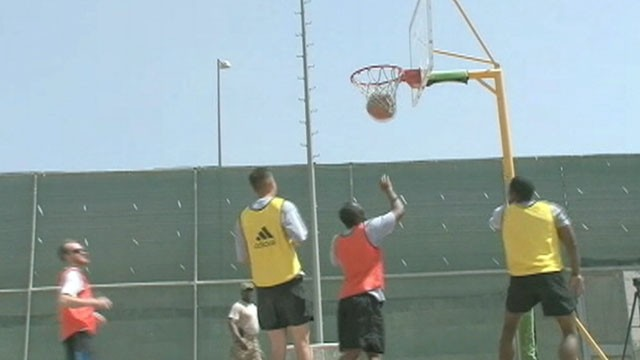 Video: War Zone Basketball a Court of Calm for US Troops