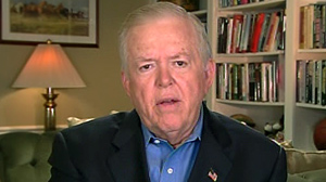 "PHOTO Lou Dobbs talks to ""Good Morning America,"" on allegations that his company employed illegal workers."
