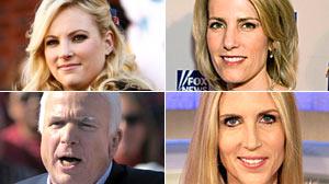 Meghan McCain Laura Ingraham Ann Coulter