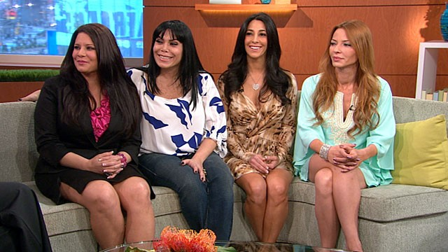 "PHOTO: The four stars of VH1s new series ""Mob Wives"" opened up on Good Morning America this morning. From left to right: Karen Gravano, Renee Graziano, Carla Facciolo and Drita DAvanzo."