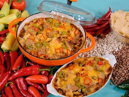 Nacho-Topped Chili Pot